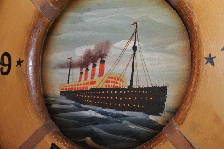 Hand-Crafted Hand Painted Titanic Trade Sign, 1912 For Sale