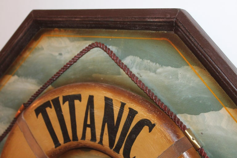 20th Century Hand Painted Titanic Trade Sign, 1912 For Sale