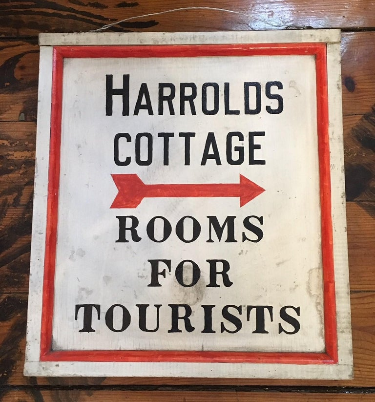 Hand-Painted Tourist Trade Sign, circa 1920s In Good Condition In Nantucket, MA