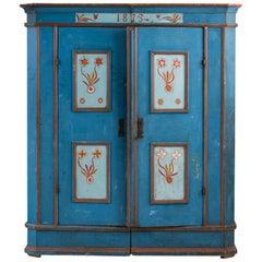 Hand Painted Two-Door Cabinet, Sweden, 19th Century