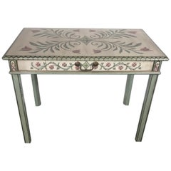 Hand Painted Venetian Style Console or Vanity Desk