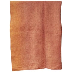 Hand Painted Vintage Linen Throw in Copper Tones, in Stock
