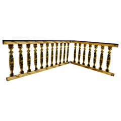 Hand Painted Wooden Railings from a Fair Ground