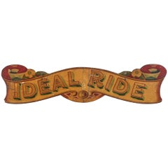 Hand-Painted Wooden Sign, England, circa 1910
