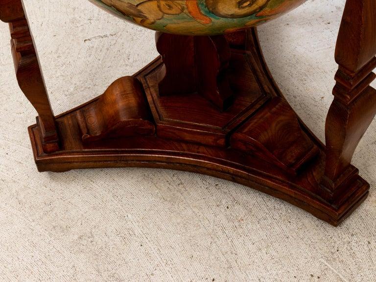 Hand Painted Zodiac Floor Globe For Sale 5