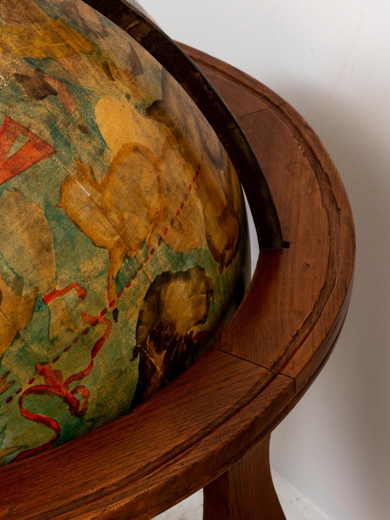 Hand Painted Zodiac Floor Globe For Sale 6