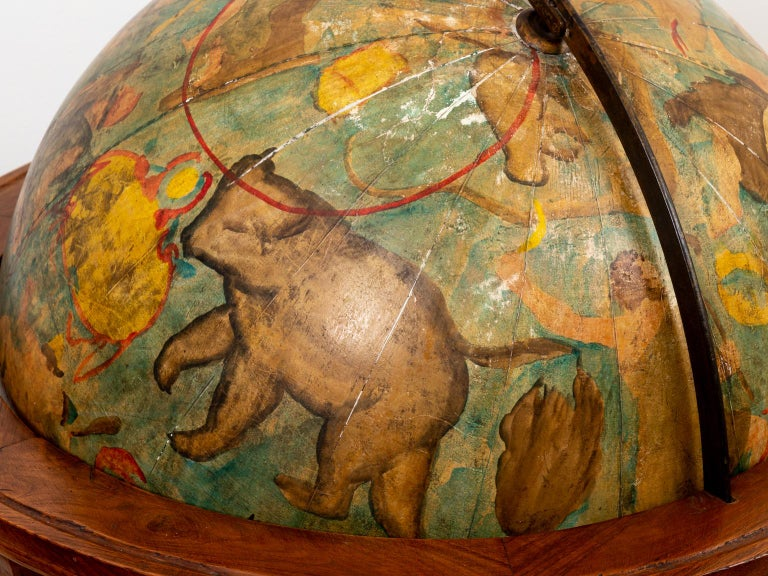 Hand Painted Zodiac Floor Globe For Sale 7