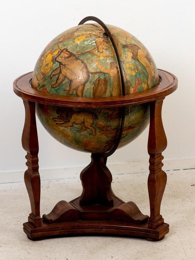 Hand Painted Zodiac Floor Globe For Sale 8