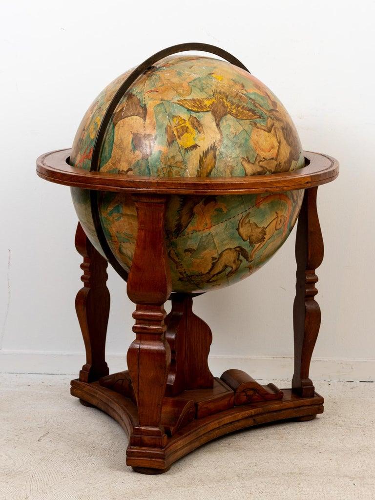 Hand Painted Zodiac Floor Globe For Sale 9