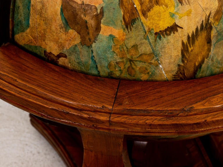 Hand Painted Zodiac Floor Globe In Good Condition For Sale In Stamford, CT