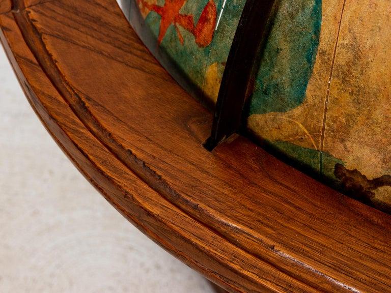 Hand Painted Zodiac Floor Globe For Sale 1