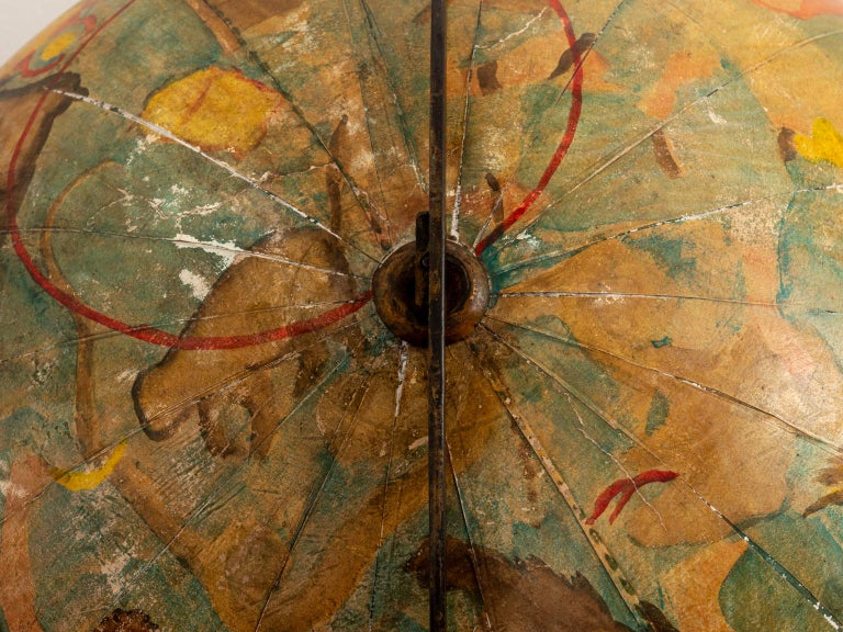 Hand Painted Zodiac Floor Globe For Sale 2