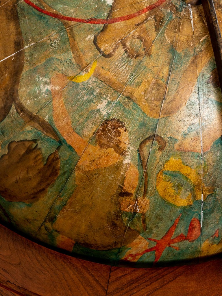 Hand Painted Zodiac Floor Globe For Sale 3