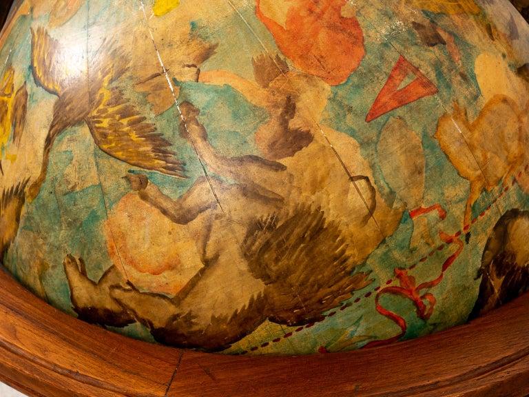 Hand Painted Zodiac Floor Globe For Sale 4