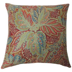 "Pair of Hand printed ""Chandigarh"" paisley multi-color decorative pillows"