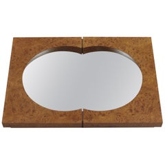 Hand Produced Bespoke Burr Elm Wall Mirror Desmond Ryan Mirror, 1990s