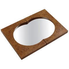 Hand Produced Bespoke Burr Elmwood Wall Mirror Desmond Ryan Mirror, 1990s