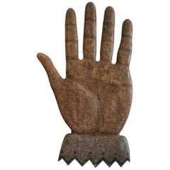 Hand Reading / Palmistry Folk Art Wooden Sign, 1900s