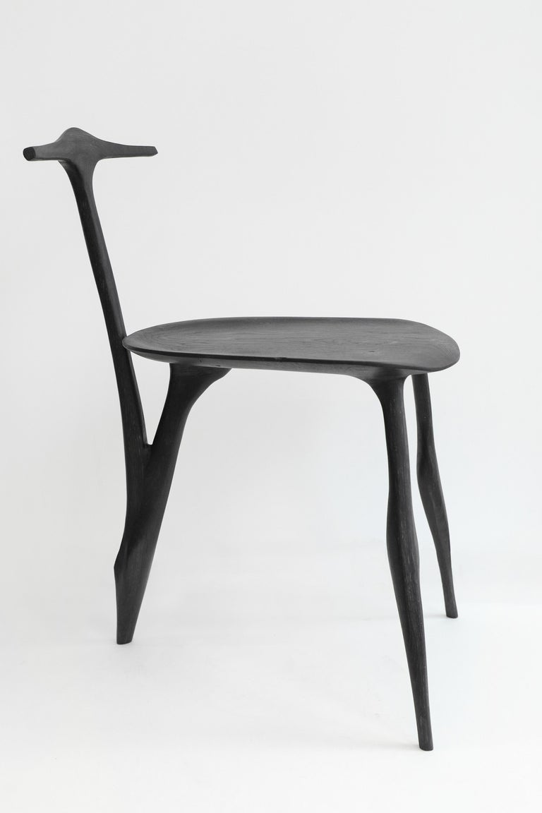 Modern Hand-Sculpted and Signed Chair by Cedric Breisacher For Sale