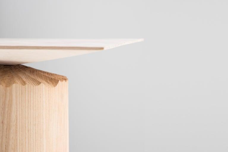 Hand-Sculpted Ash Table by Sanna Völker For Sale 1