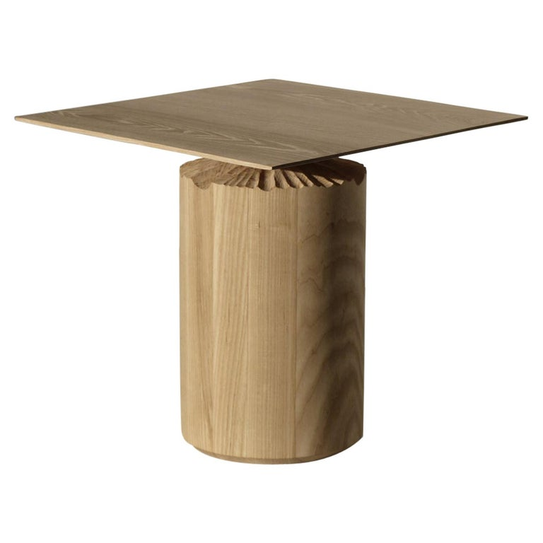 Hand-Sculpted Ash Table by Sanna Völker For Sale