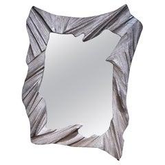 Hand Sculpted, Cast Aluminum Mirror- Mannara Mirror