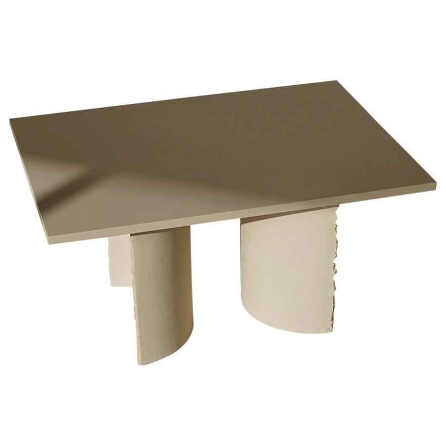 Hand-Sculpted Clay Table by Sanna Völker