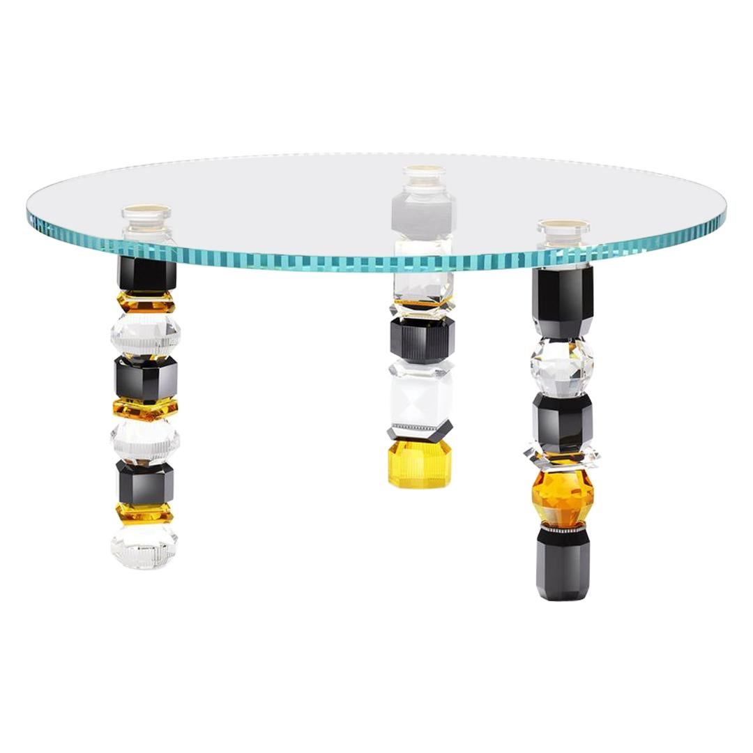 Hand-Sculpted Contemporary Crystal Table