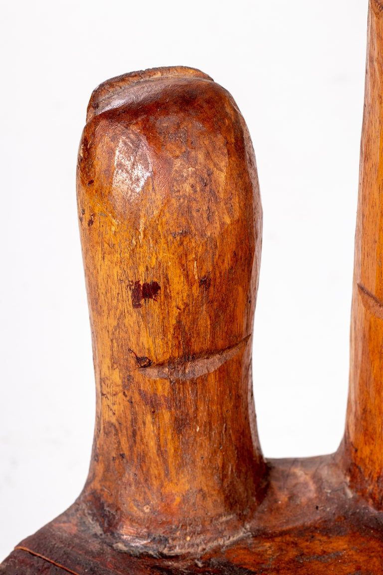 Hand Shaped Fruit Wood Set of Table and Four Chairs 7