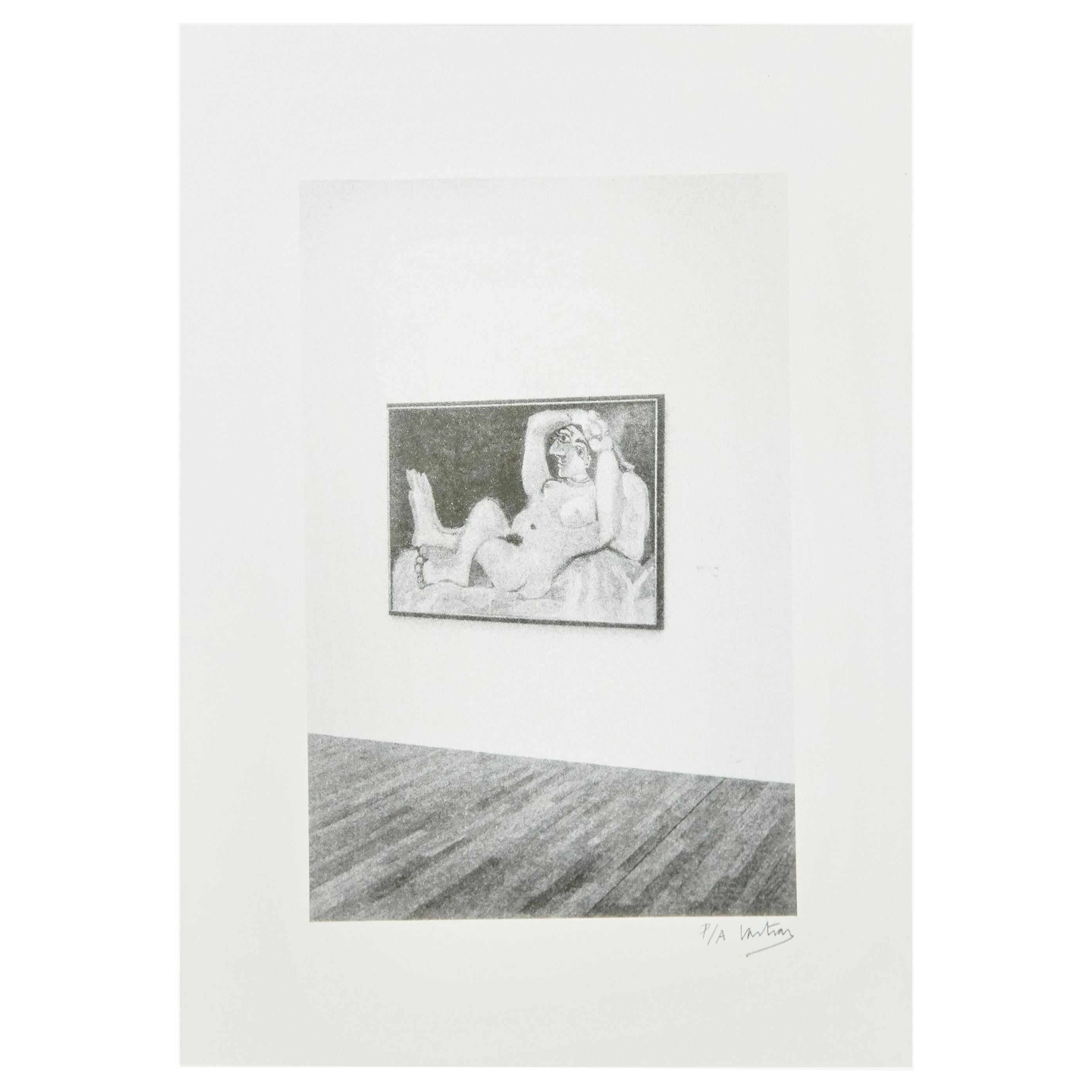 Hand Signed Lithography 'The museum' by Vastian