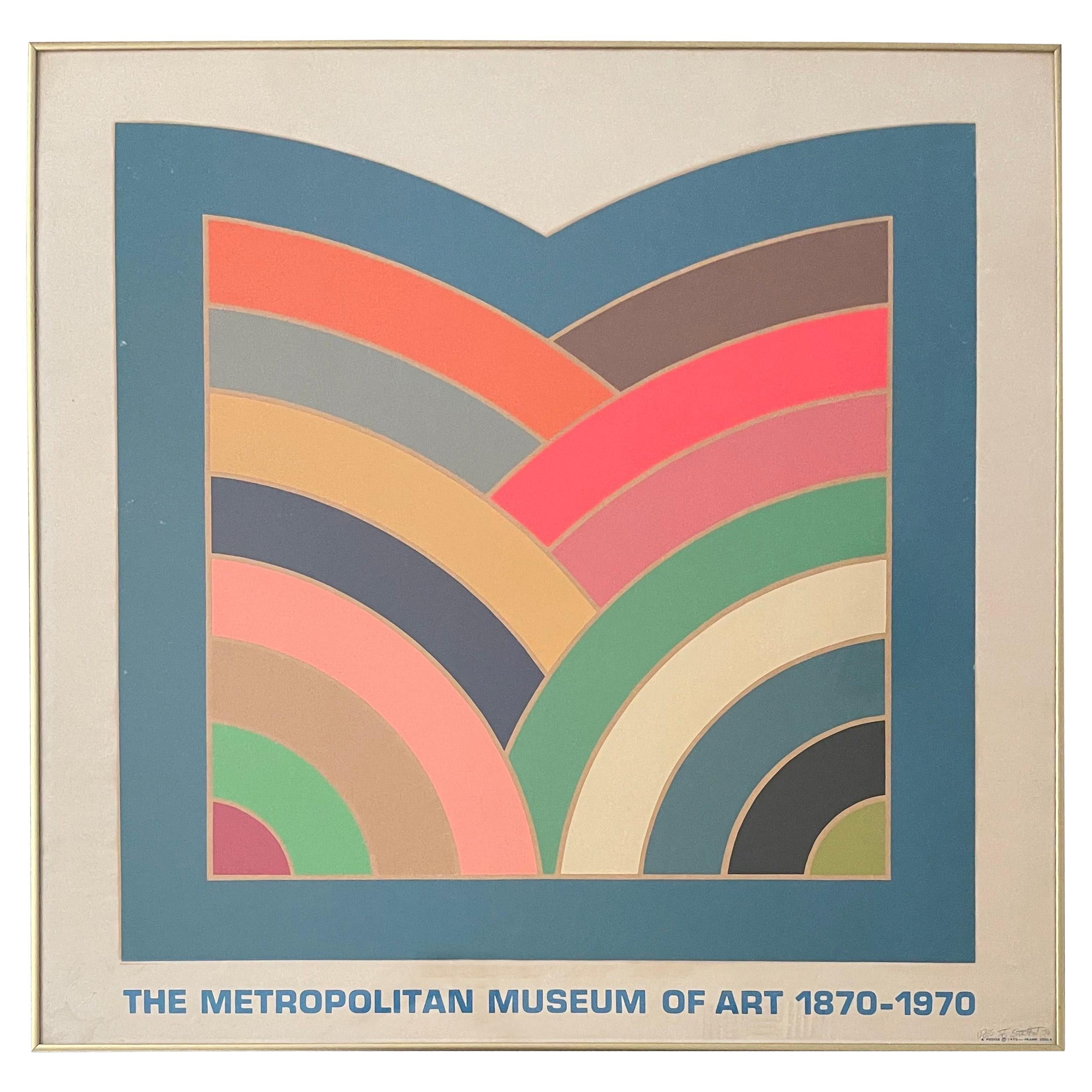 """Hand Signed Ltd Edition Serigraph """"MOMA 1870-1970 Centennial"""" by Frank Stella"""
