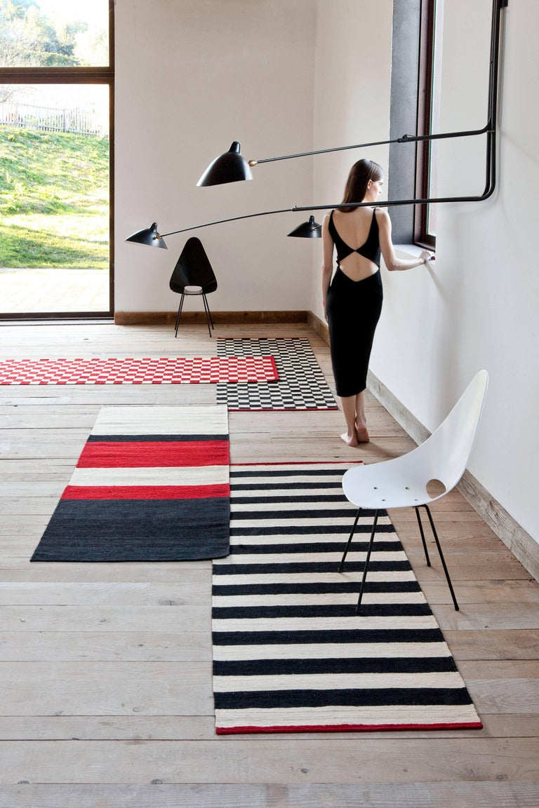 Modern Hand-Spun Nanimarquina Melange Pattern 5 Rug by Sybilla, Small For Sale