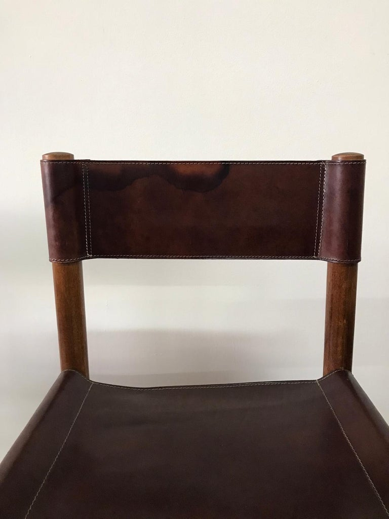 Hand Stitched Leather Estancia Chairs, Set of 8 For Sale 10