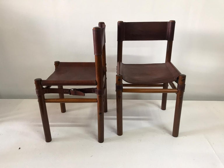 Hand Stitched Leather Estancia Chairs, Set of 8 For Sale 1
