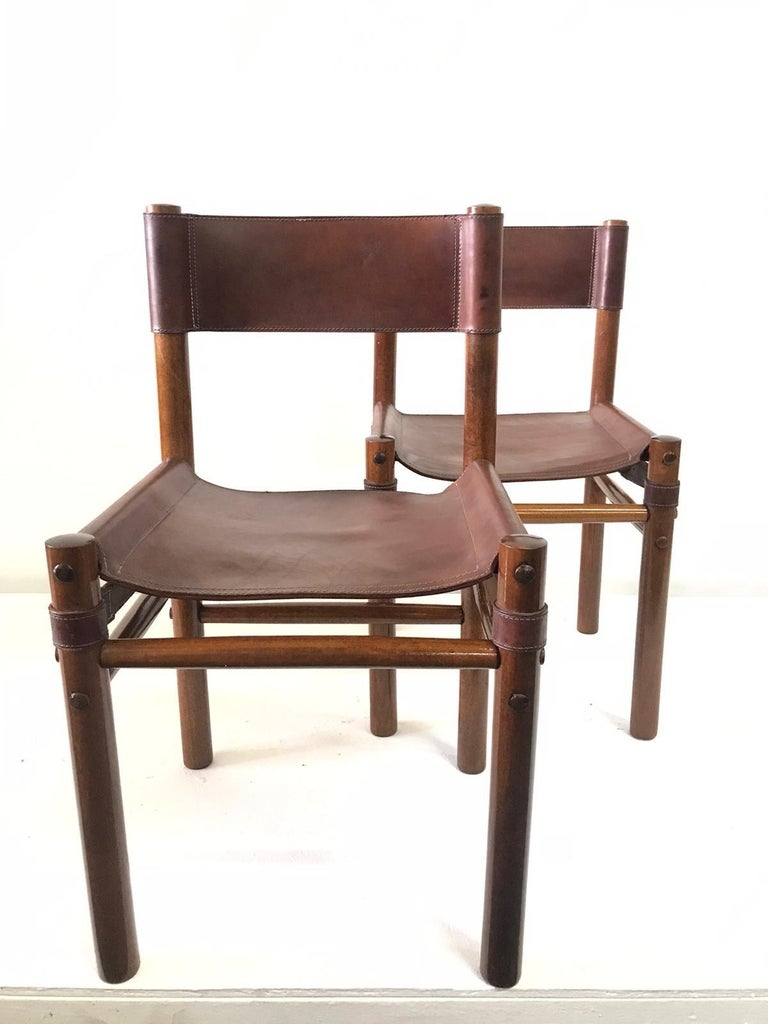 Hand Stitched Leather Estancia Chairs, Set of 8 For Sale 2