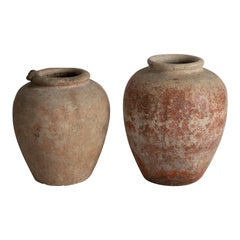 Hand-Thrown Clay Vessels, France, 20th Century