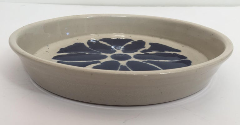 20th Century Hand Thrown Glazed, Signed and Dated Artisanal Ceramic Pottery Bowl For Sale
