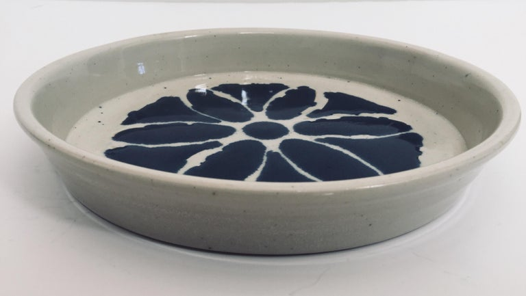 Hand Thrown Glazed, Signed and Dated Artisanal Ceramic Pottery Bowl For Sale 1