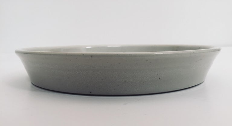 Hand Thrown Glazed, Signed and Dated Artisanal Ceramic Pottery Bowl For Sale 2