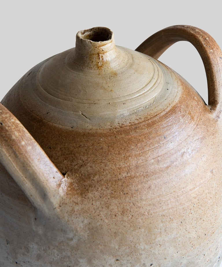 French Hand Thrown Oil Pot France, 19th Century For Sale