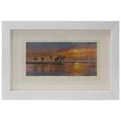 """Hand Tinted Print """"Golden Inlet"""" by Barnhill"""