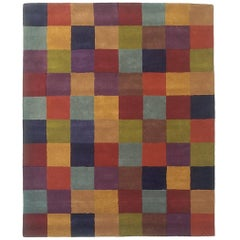 Hand-Tufted Cuadros 1996 Multicolored Rug by Nani Marquina, Extra Large