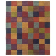 Hand-Tufted Cuadros 1996 Multicolored Rug by Nani Marquina, Large