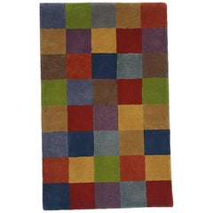 Hand-Tufted Cuadros 1996 Multicolored Rug by Nani Marquina, Small