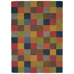 Hand-Tufted Cuadros 1996 Multicolored Rug by Nani Marquina, Standard