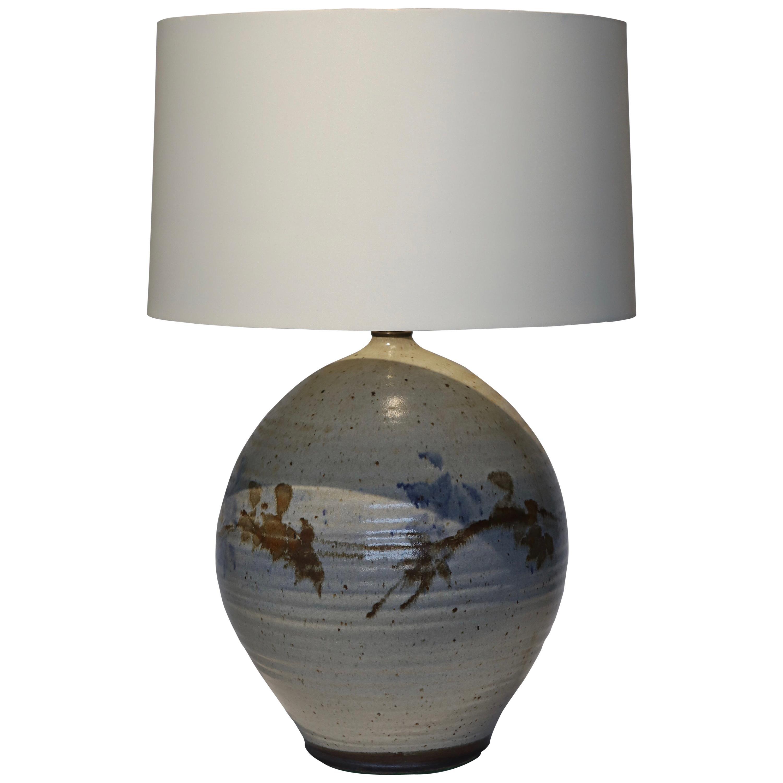 Hand Thrown Glazed Ceramic Lamp