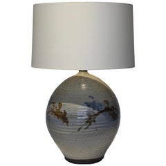 Hand Thrown Glazed Ceramic Lamp
