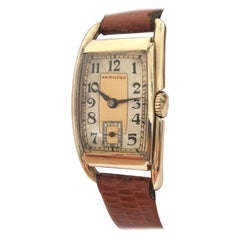 Hand-Winding 14 Karat Gold Filled 1950s Vintage Hamilton Wristwatch
