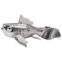 Hand-Worked Contemporary Solid Silver Goldfish