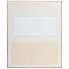 Handwoven Canvas in Artist's Frame by Ethan Cook, Untitled 2013